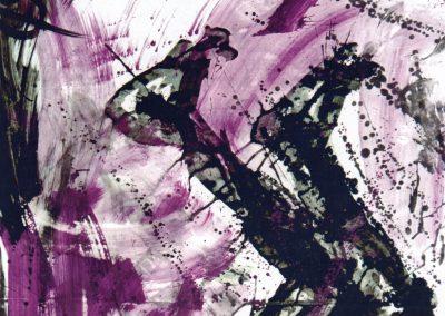 Karl J. Schaefer - De Passione 2, 1996 (Tafel aus Triptychon, Tusche, Dispersion auf Karton)