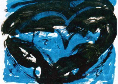 Karl J. Schaefer - Twilight, 1996 (Acry und Tusche auf Papier)