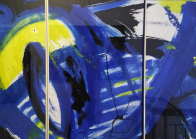 Karl J. Schaefer - Blue Floats, Acryl, 2010