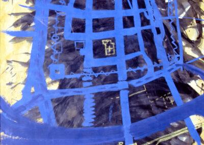 Karl J. Schaefer - Stadt wächst, Acryl/Tusche, 2003